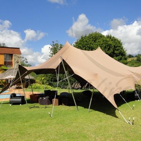 Beige Bedouin Stretch Tent - 6x6m