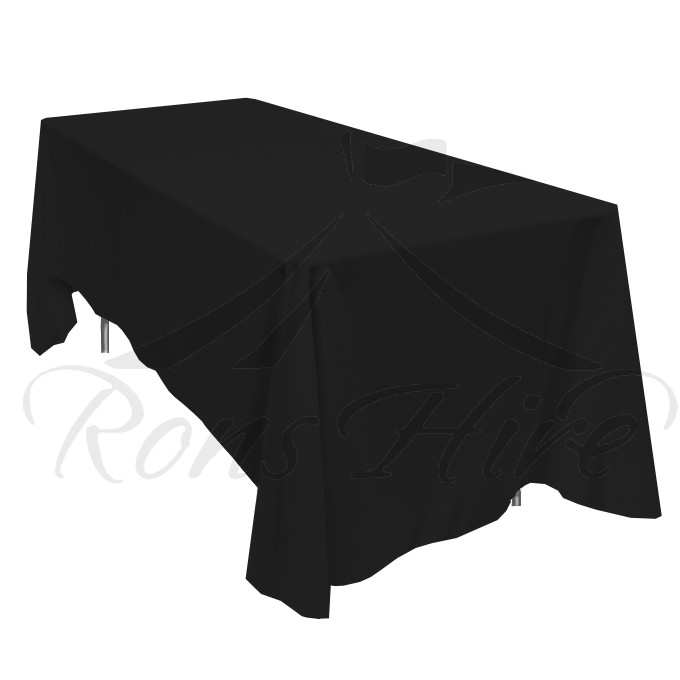 Tablecloth - Black Linen 1.35m x 2.30m Rectangular Tablecloth