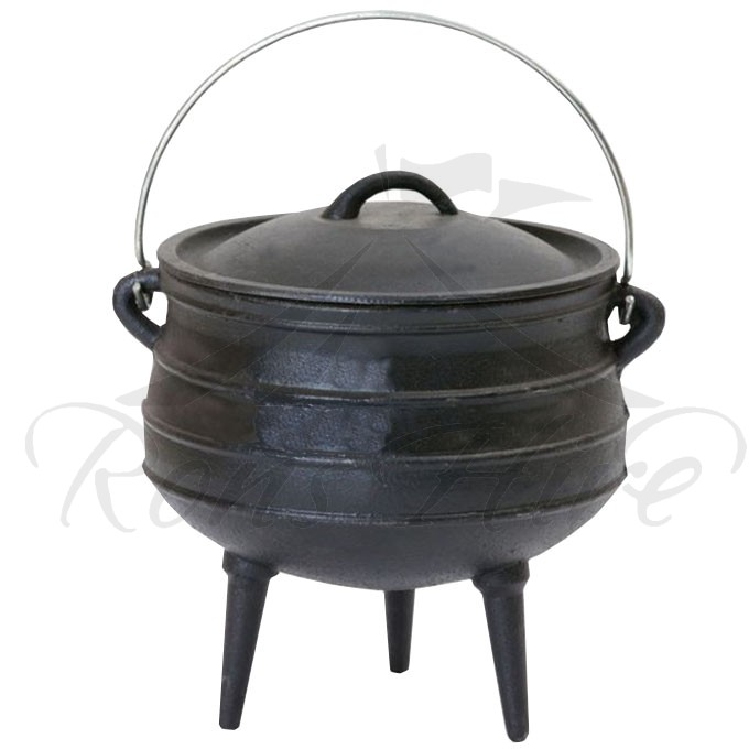 Pot - Black Cast Iron Potjie No. 4 Round Pot