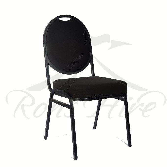 Chair - Black Metal Conference Padded Chair