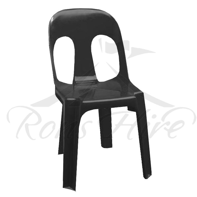 Chair - Black Plastic Ancona Chair