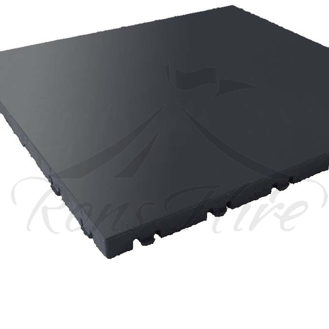 Floor - Black Plastic Interlocking 1.0m x 1.0m Square Floor