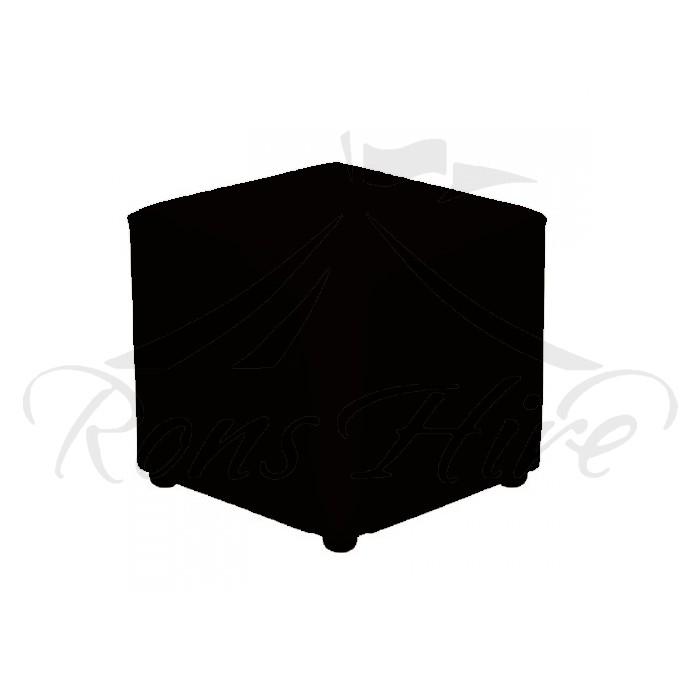 Ottoman - Black Square Ottoman
