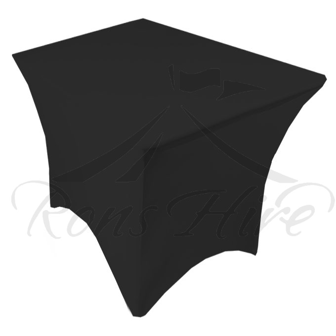 Tablecloth - Black Stretch Stretch 4 Leg Cocktail Tablecloth
