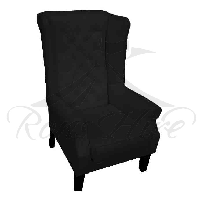 Chair - Black Wingback Chair