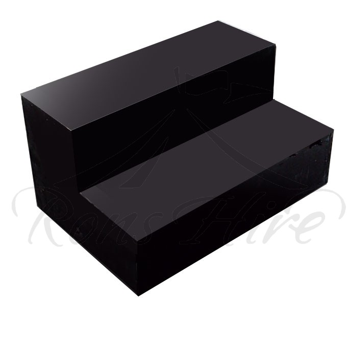 Steps - Black Wooden 2 Tier Steps