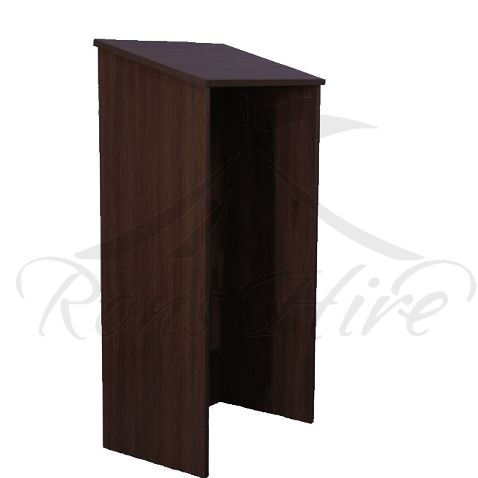 Podium - Black Wooden Folding Podium