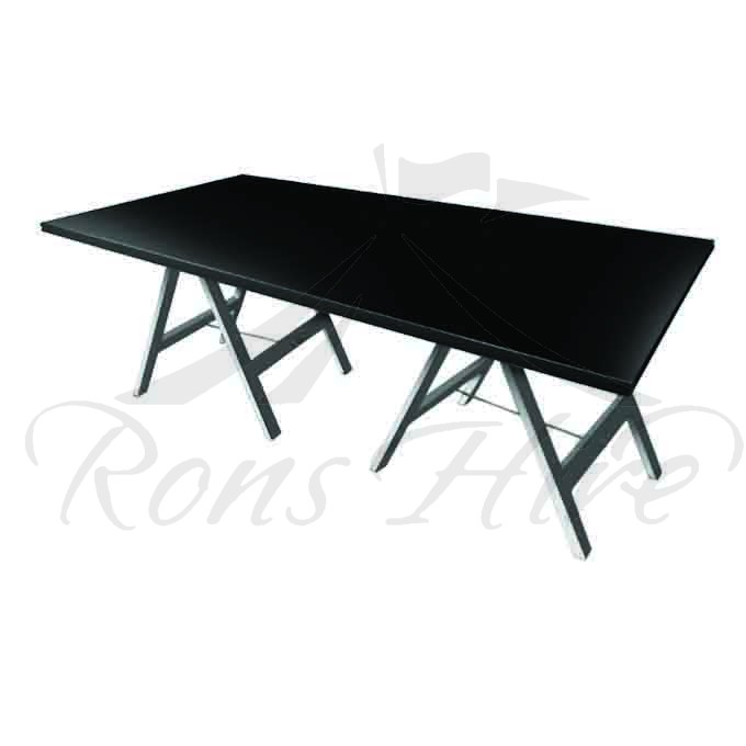 Table - Black Wooden Inanda 2.4m x 1.2m Rectangular Table