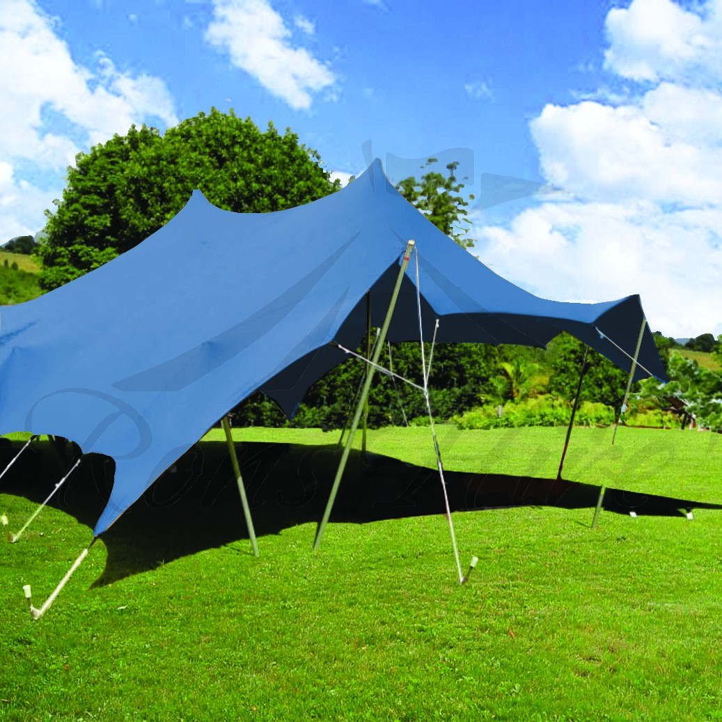 Blue Bedouin Stretch Tent - 15x22.5m