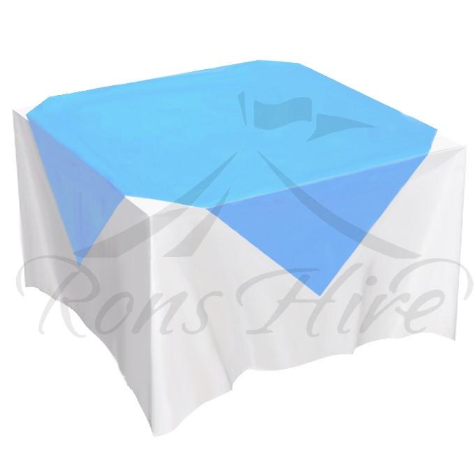 Overlay - Blue Satin 1.5m x 1.5m Square Overlay