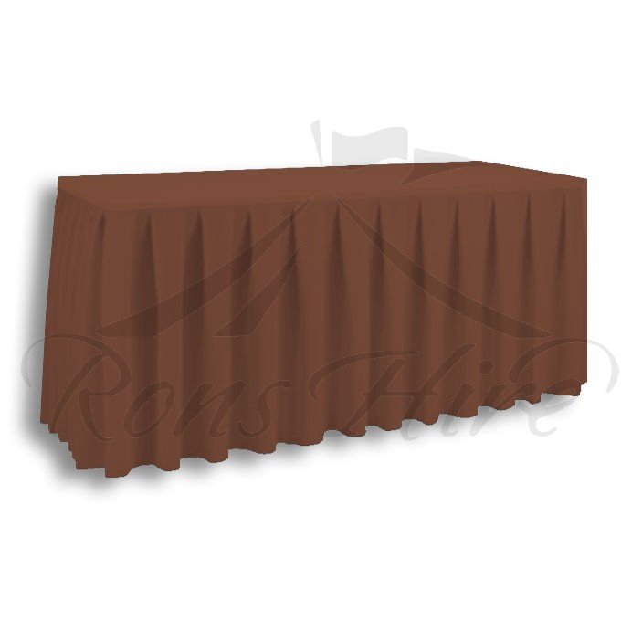 Skirting - Brown Linen 2.95m x 0.690m Skirting