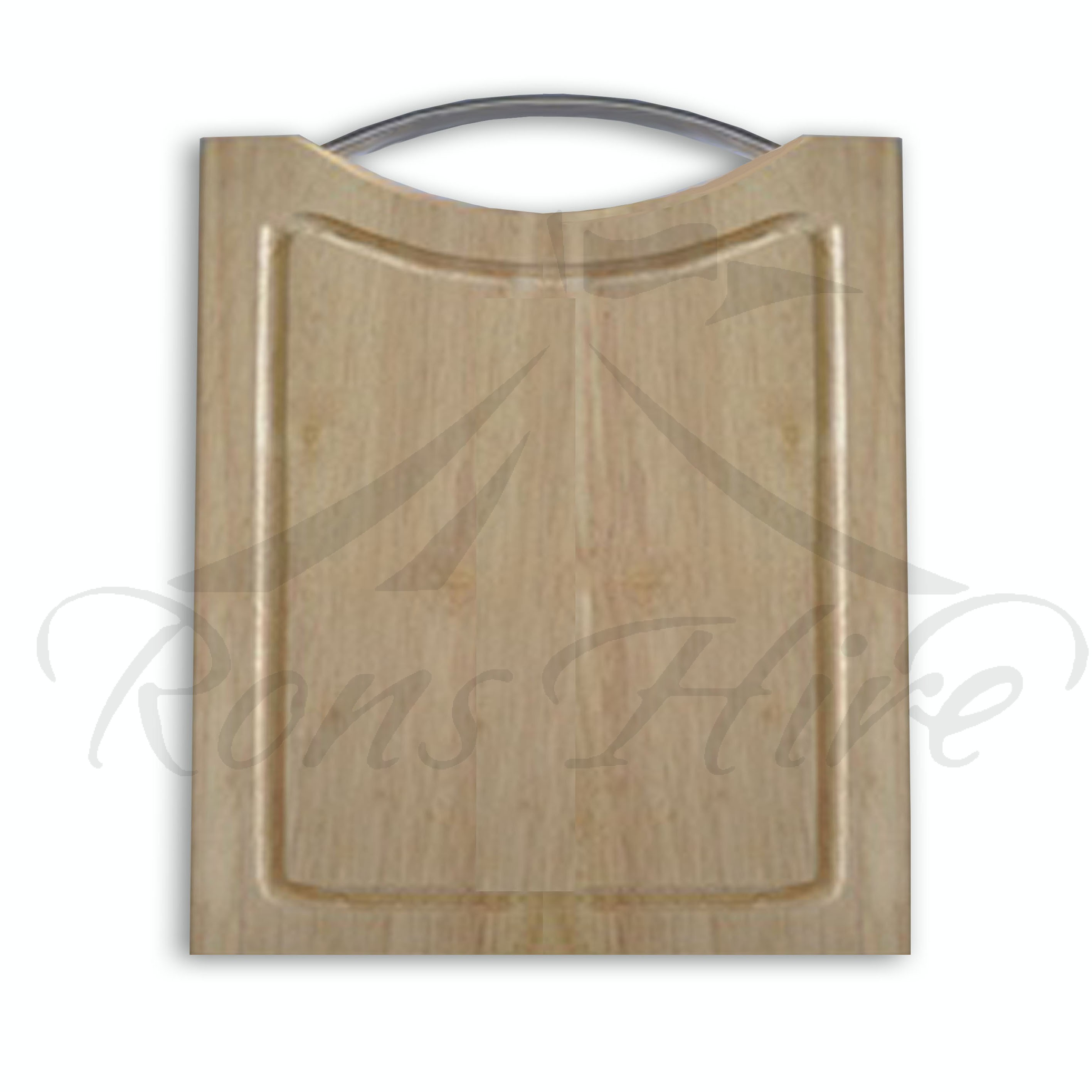 Board - Brown Wooden Plain Small Square Cheese Board