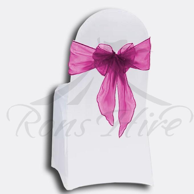 Tieback - Cerise Pink Organza Tieback