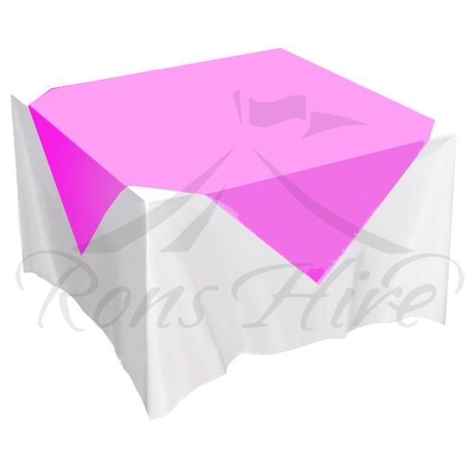 Overlay - Cerise Pink Satin 1.0m x 1.0m Overlay