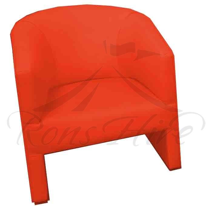 Chair - Red Tub Chair