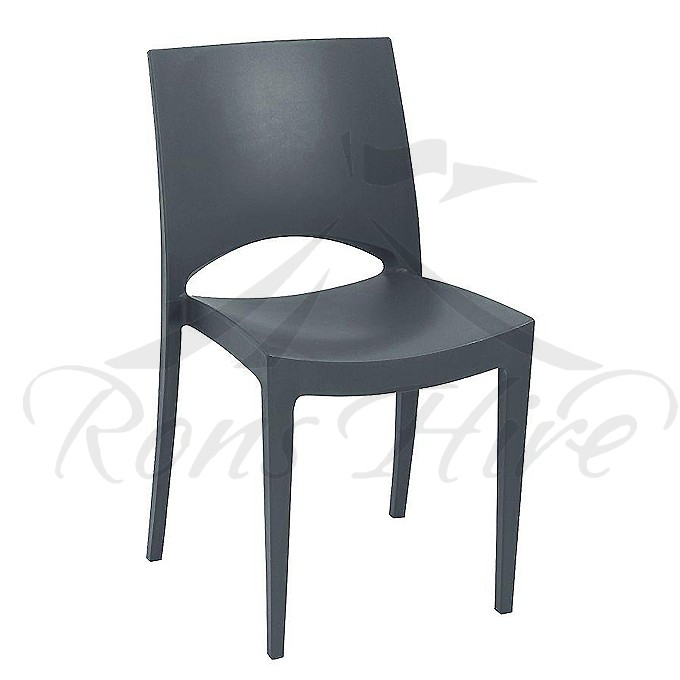 Chair - Charcoal Plastic Star Chair