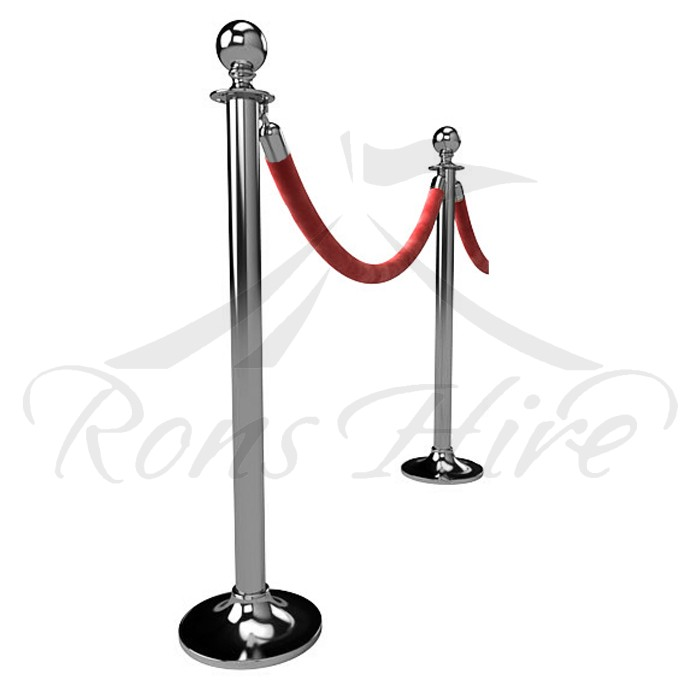 Stanchion - Chrome Metal Stanchion