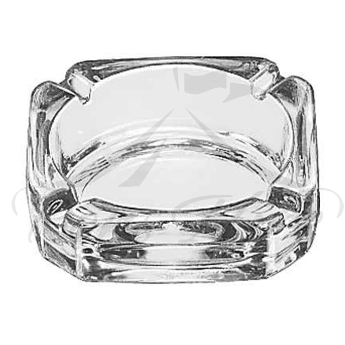 Ashtray - Clear Glass 10cm x 10cm Square Ashtray