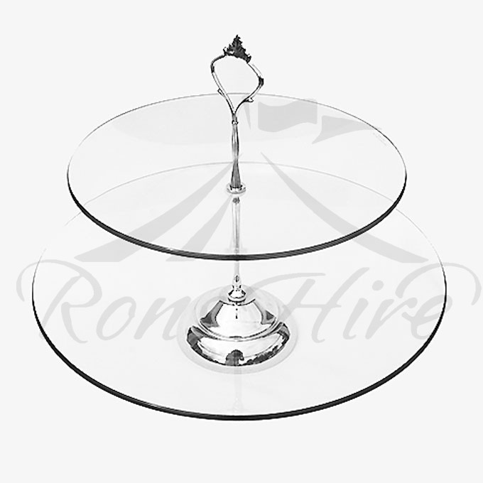 Stand - Clear Glass 30cm Round Cake Stand