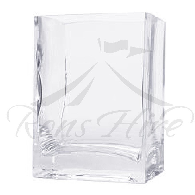 Vase - Clear Glass Fish tank Rectangular Vase