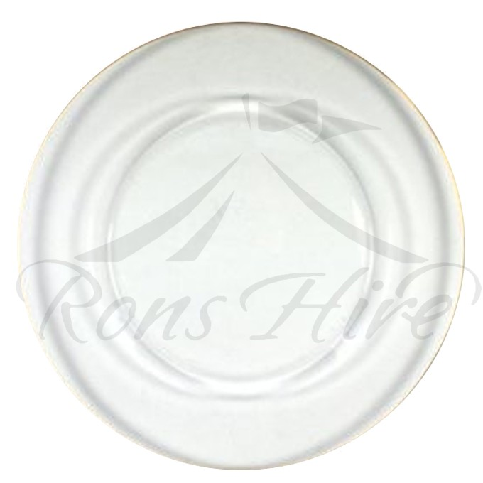 Underplate - Clear Glass Round Underplate