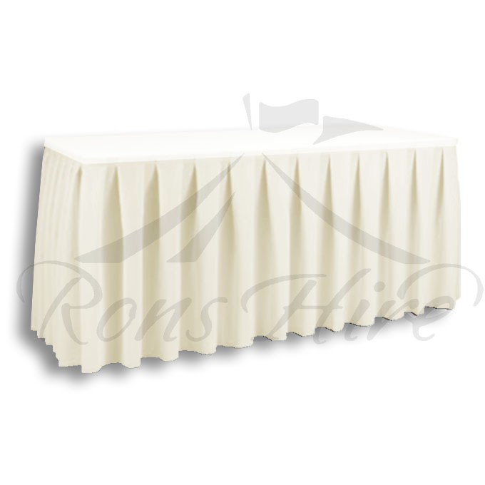 Skirting - Cream Linen 2.95m x 0.690m Skirting