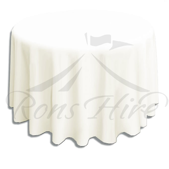 Tablecloth - Cream Scroll 3.2m Round Tablecloth
