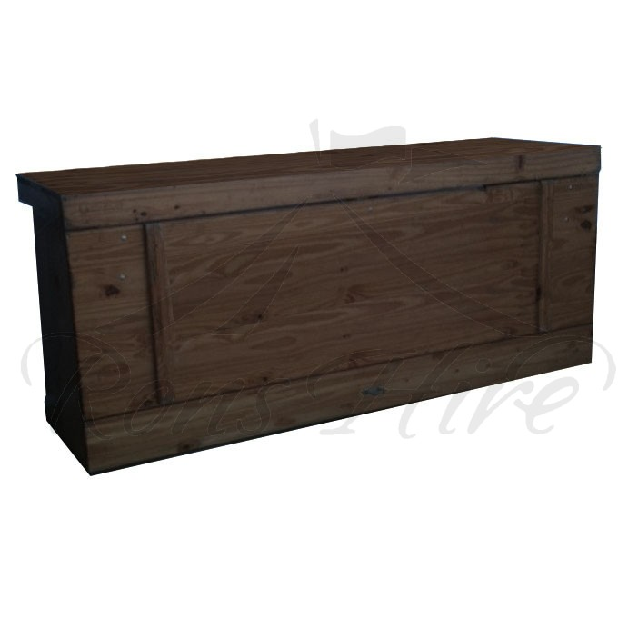 Bar - Dark Teak Teak Wood 2.1m x 0.65m x 1.00m Rectangular Bar with Shelf