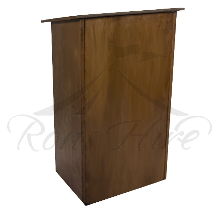Podium - Dark Wooden Podium