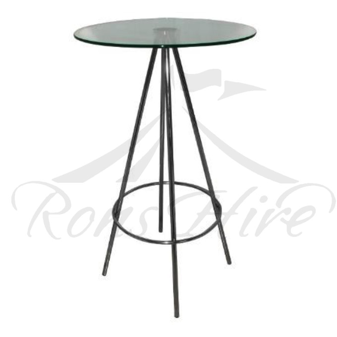 Table - Glass/Metal Prism Round Cocktail Table