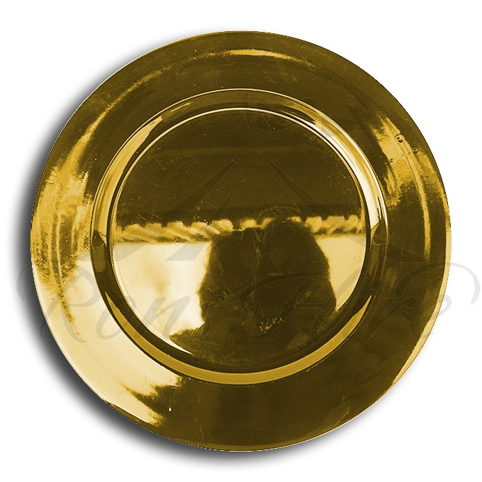Underplate - Gold Plastic Round Underplate
