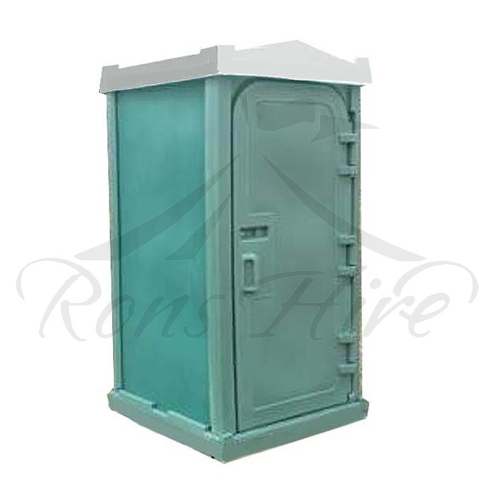 Toilet - Green/Grey Plastic Portable Single Toilet
