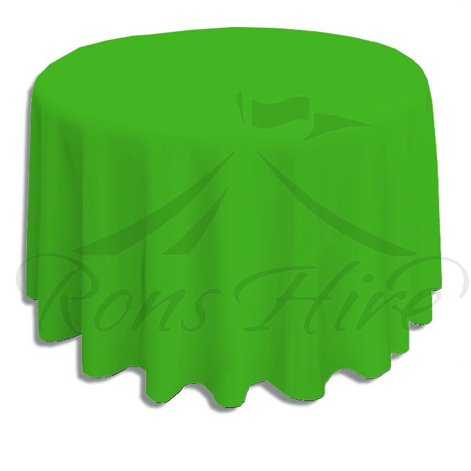 Tablecloth - Green Linen 3.3m Round Tablecloth