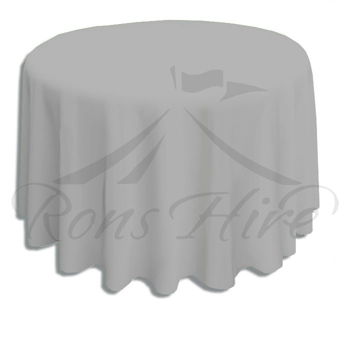 Tablecloth - Grey Linen 3.3m Round Tablecloth