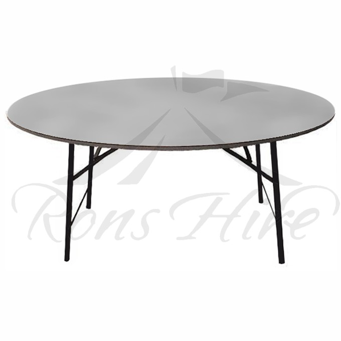 Table - Grey Wooden Banquet 1.5m Round Table