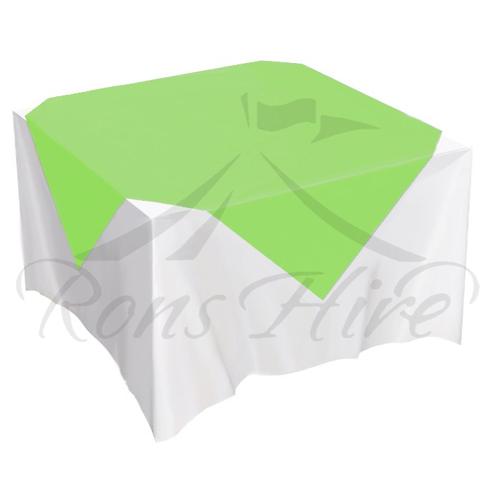 Overlay - Lime Green Satin 1.5m x 1.5m Square Overlay