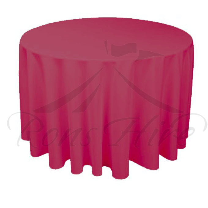 Tablecloth - Maroon Linen 3m Round Tablecloth