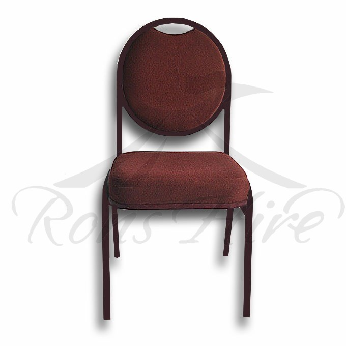 Chair - Maroon Metal Conference Padded Chair