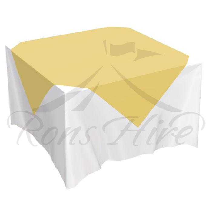 Overlay - Mustard Linen 1.35m x 1.35m Overlay