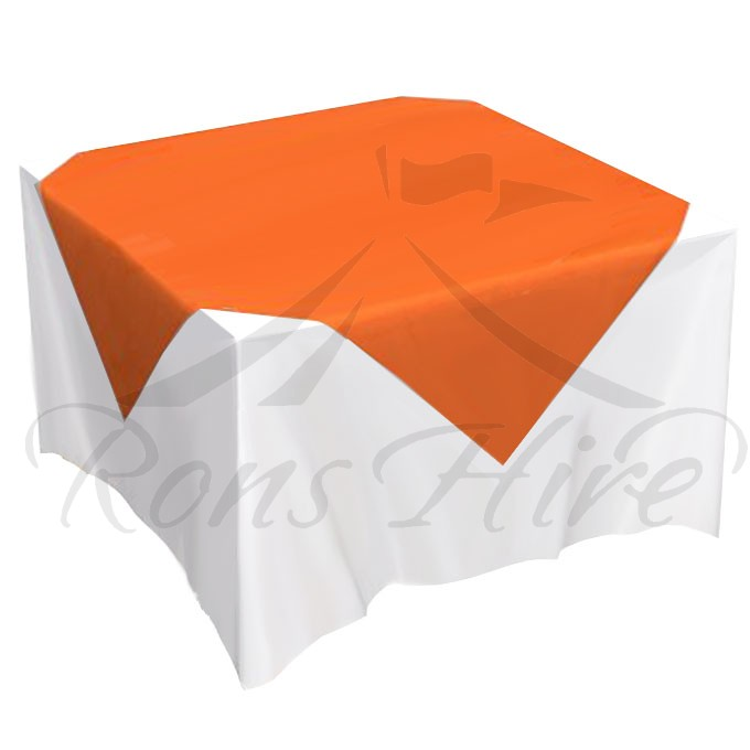 Overlay - Orange Linen 1.35m x 1.35m Overlay