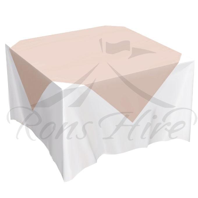 Overlay - Peach Linen 1.35m x 1.35m Overlay