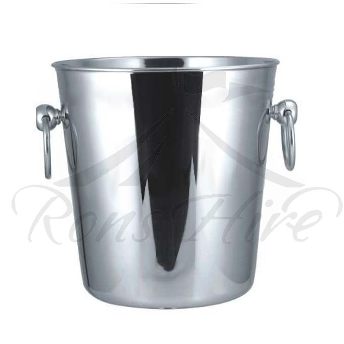 Bucket - Polished Stainless Steel Round Ice Bucket