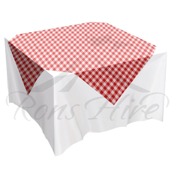 Overlay - Red Gingham 1.35m x 1.35m Overlay