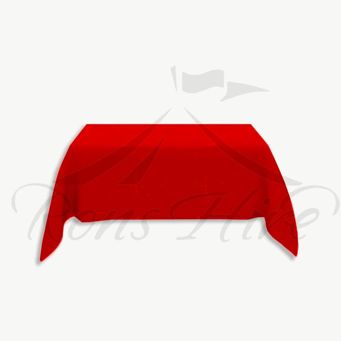 Tablecloth - Red Linen 3.0m x 3.0m Square Tablecloth