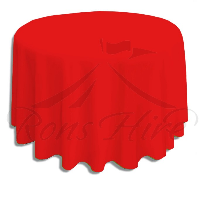 Tablecloth - Red Linen 3.3m Round Tablecloth