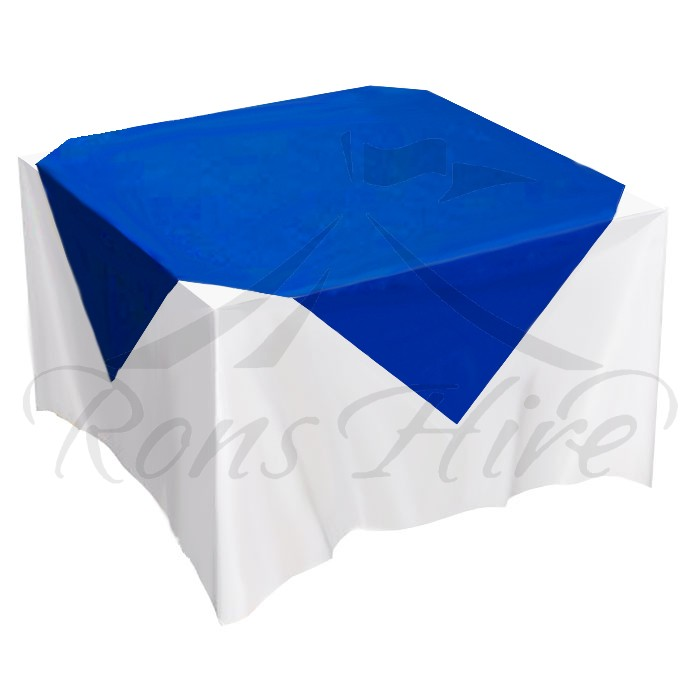 Overlay - Royal Blue Satin 1.5m x 1.5m Square Overlay