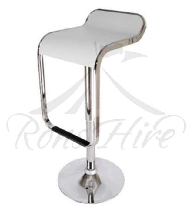 White Waterfall Bar Stool
