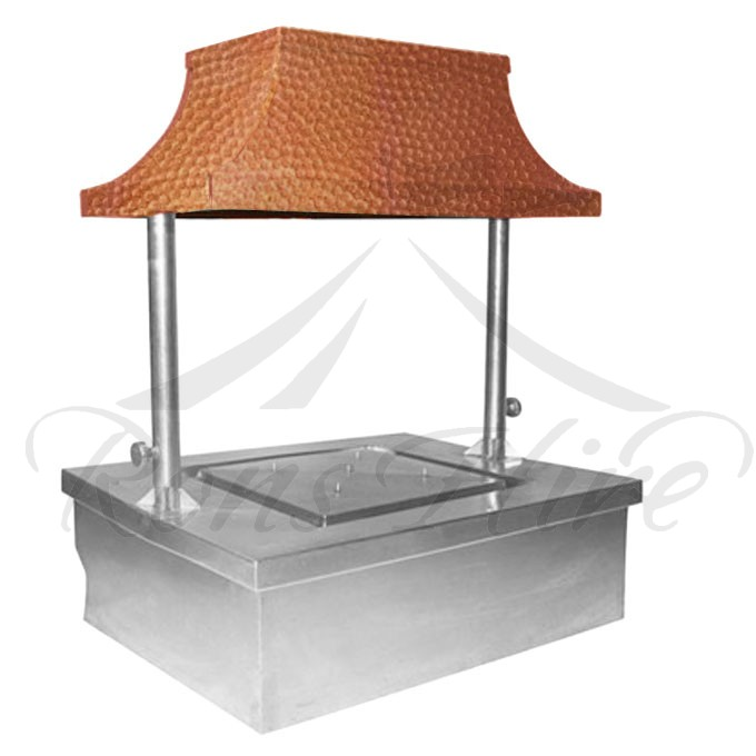 Carvery Unit - Silver/Copper Stainless Steel/Copper Electrical 0.7m x 0.7m x 1.15m Square Main Carvery Unit