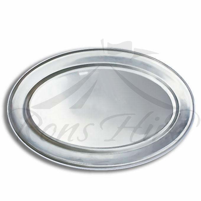 Platter - Stainless Steel 45cm x 30cm Oval Platter