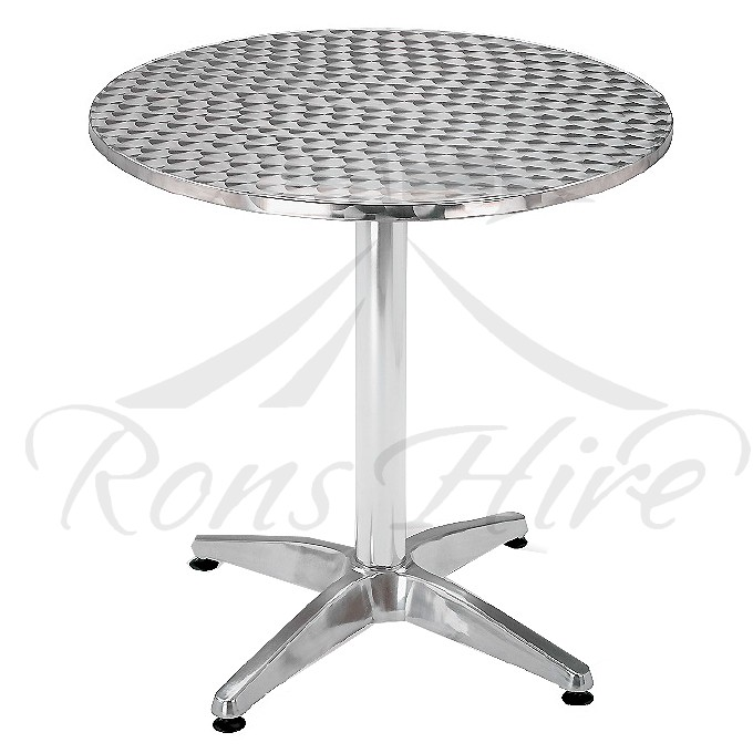 Table - Stainless Steel Jupiter 800mm Round Café Table